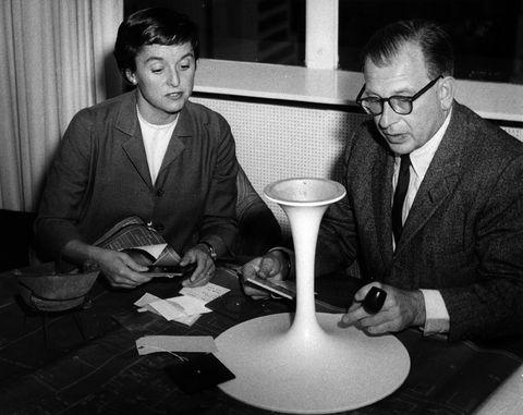 Biografia Florence Knoll, ritratto di Flore con Eero Saarinen