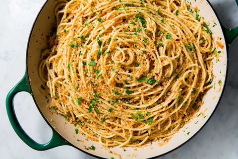 makkelijke knoflookspaghetti