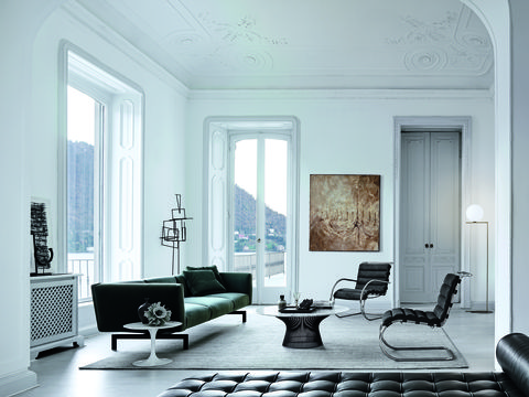 Living room, Furniture, Room, Interior design, White, Property, Couch, Chair, Building, Floor,