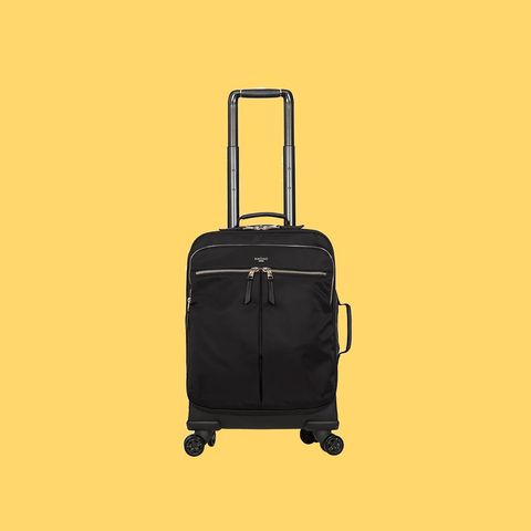 Suitcase, Bag, Hand luggage, Baggage, Product, Luggage and bags, Rolling, Yellow, Travel, Wheel,