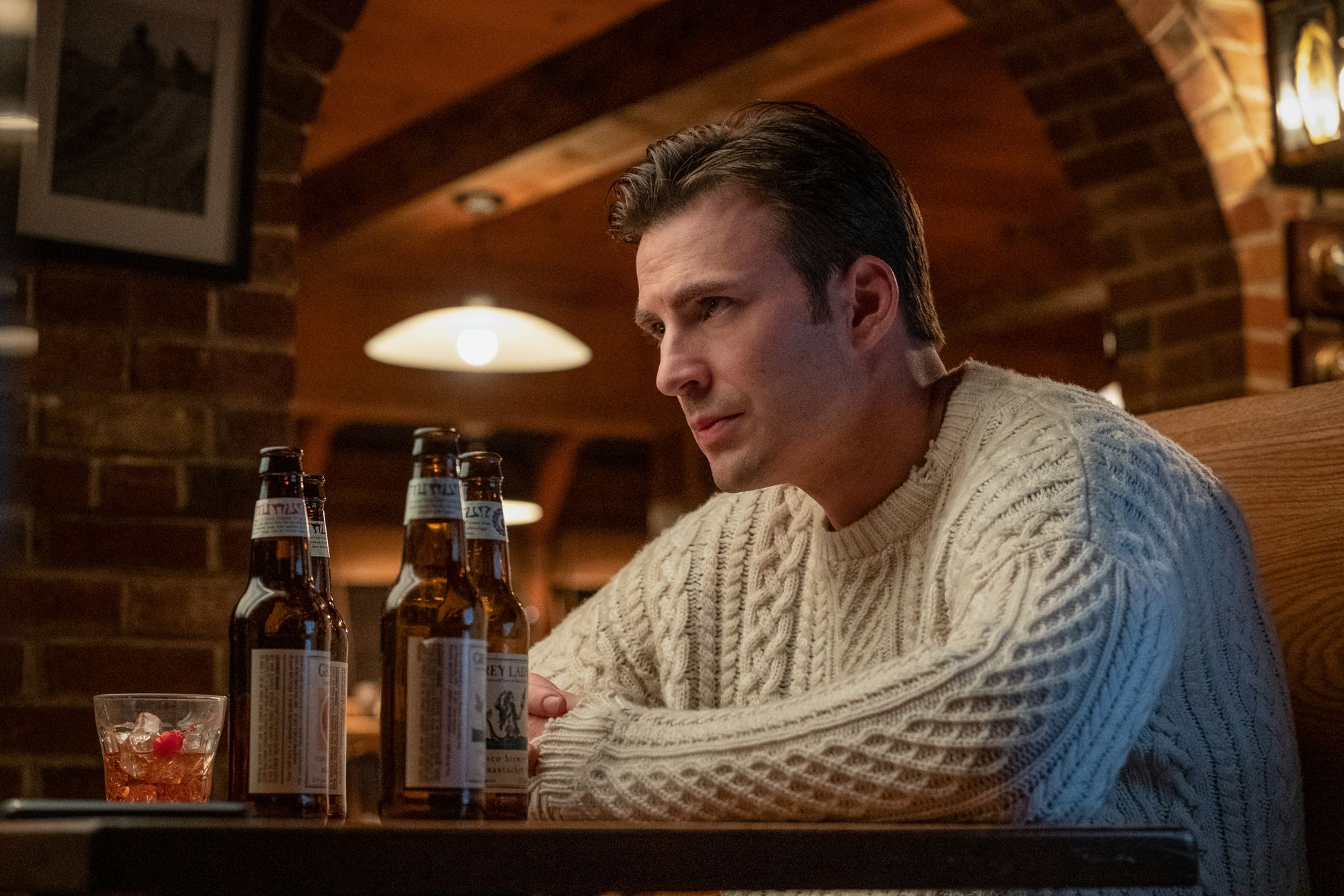Please Swaddle Me in Chris Evans' Knives Out Sweater This December