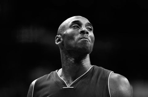 washington, dc   december 02 editors note image has been converted to black and white kobe bryant 24 of the los angeles lakers looks on against the washington wizards in the first half at verizon center on december 2, 2015 in washington, dc  note to user user expressly acknowledges and agrees that, by downloading and or using this photograph, user is consenting to the terms and conditions of the getty images license agreement  photo by rob carrgetty images