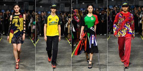 Fashion, Runway, Footwear, Fashion show, Street fashion, Event, Headgear, Fashion design, Fictional character, Style,