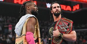 Kofi Kingston and Seth Rollins on WWE Raw