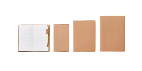Tan, Brown, Wallet, Beige, Paper product, Leather, Rectangle, Material property, Notebook, Paper,