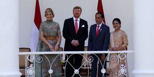 Koningin Máxima en koning Willem-Alexander tijdens dag 1 van hun staatsbezoek aan Indonesië.