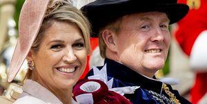 koningin Máxima en koning Willem-Alexander in Windsor