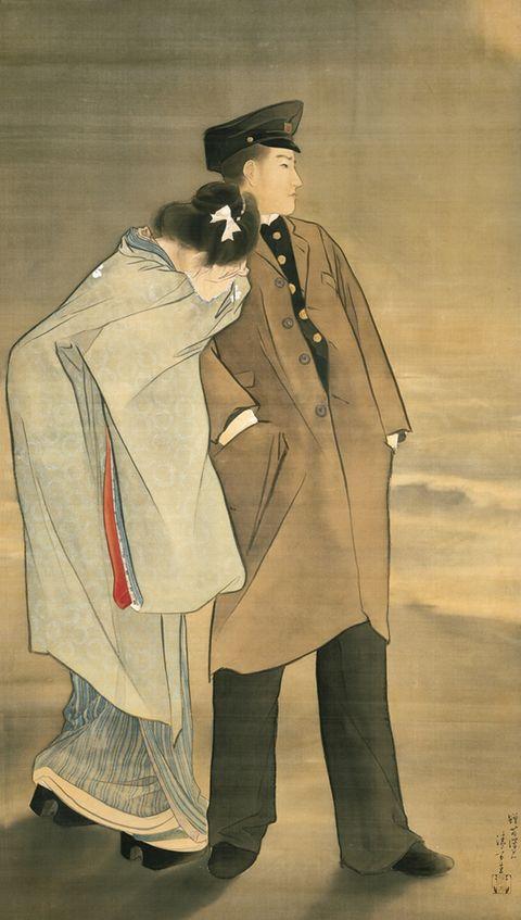 金色夜叉の絵看板 1905(明治38)年頃 鎌倉市 鏑木清方記念美術館所蔵
