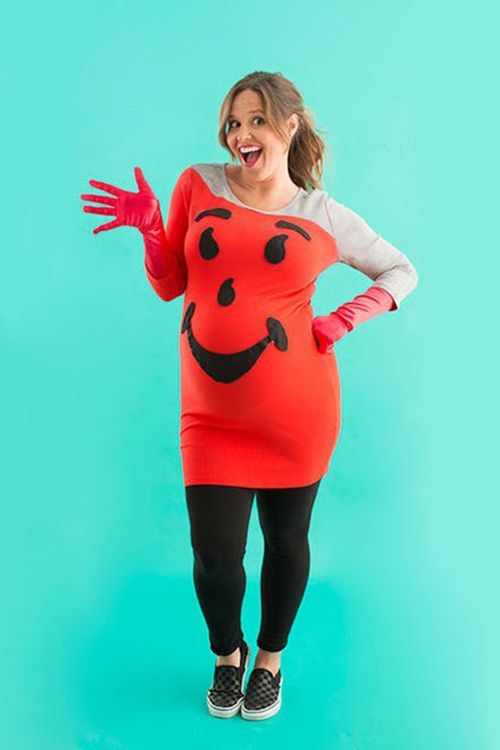 image. Brit + Co. Kool-Aid Pregnant Halloween Costume  sc 1 st  Redbook & 15 Best Halloween Costumes for Pregnant Women - Easy DIY Maternity ...