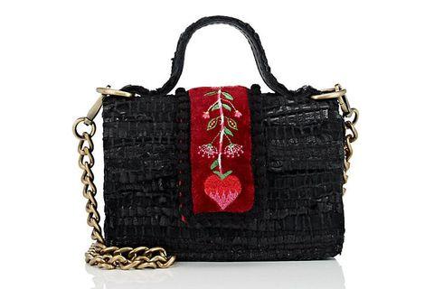 Handbag, Bag, Black, Fashion accessory, Red, Shoulder bag, Product, Beauty, Design, Material property,