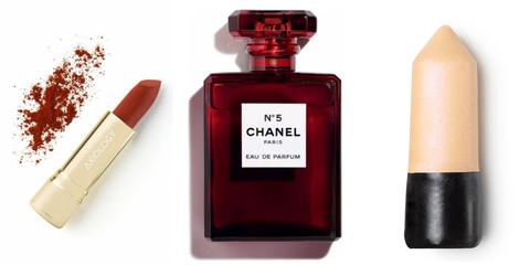 Perfume, Red, Cosmetics, Fluid, Material property, Liquid,