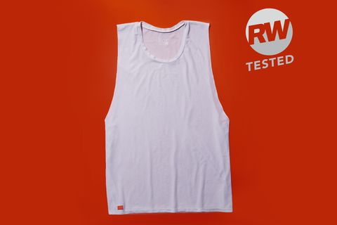 Clothing, White, Sportswear, Orange, Sleeveless shirt, Undershirt, Active tank, Outerwear, T-shirt, Sleeve,