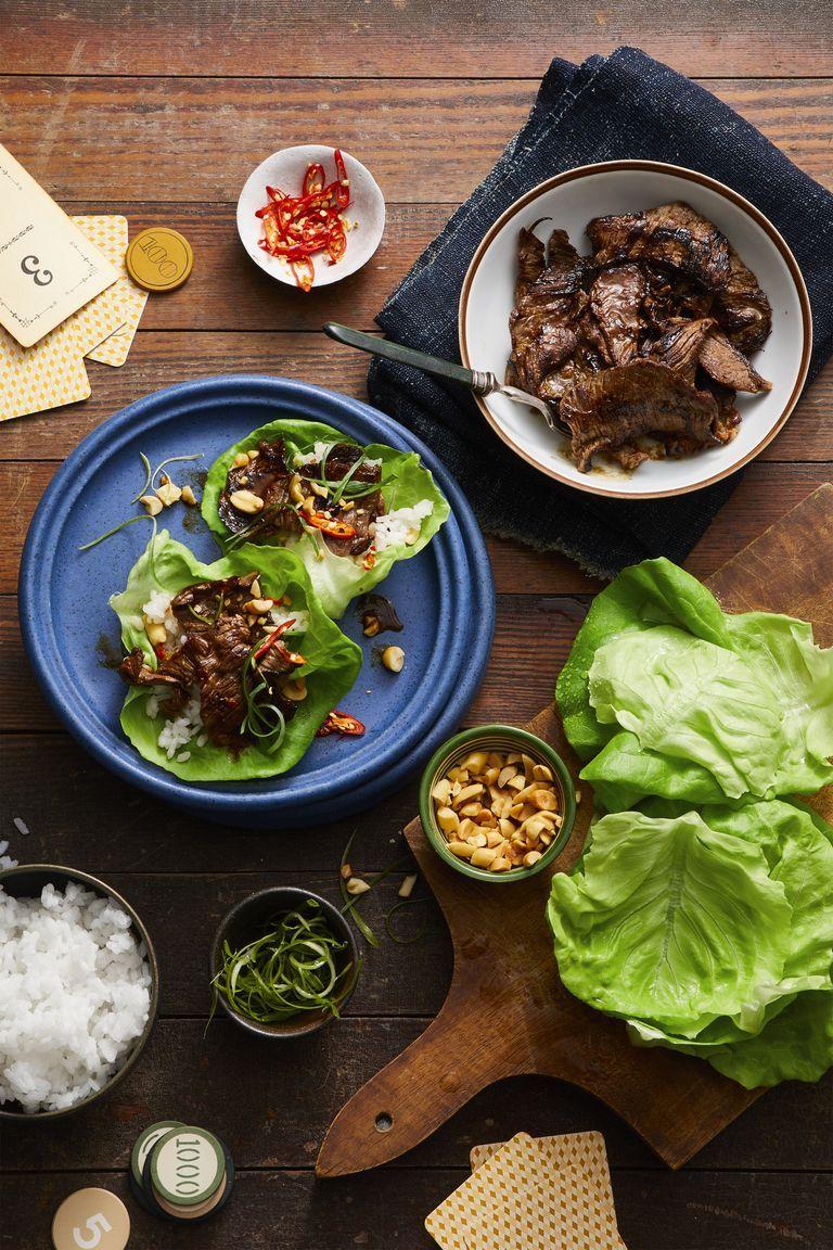 Korean Pineapple Beef Lettuce Wraps- Memorial Day Appetizers