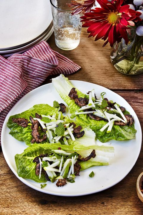 korean style beef and apple lettuce cups  memorial day recipes