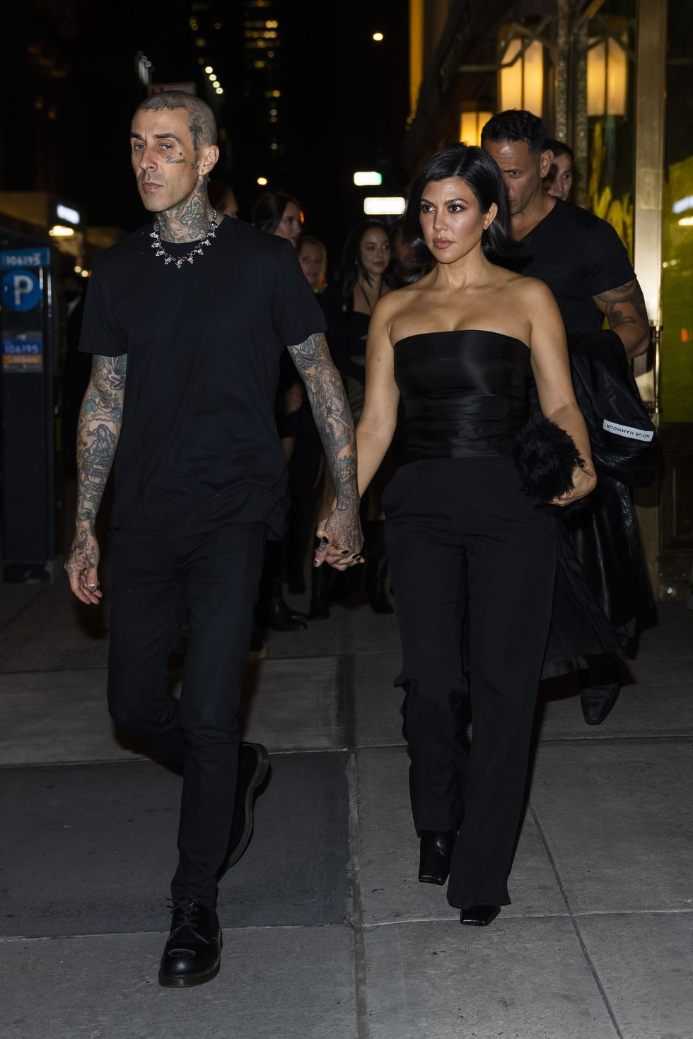 Kourtney Kardashian and Travis Barker Matched In Black For NYC Date Night