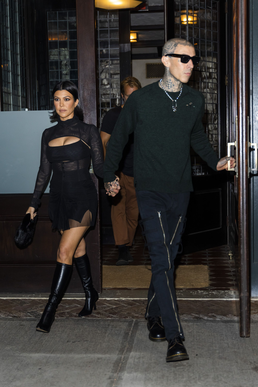 Kendall Jenner Dressed Like the Flashiest Third-Wheel on Kourtney Kardashian and Travis Barker's NYC Date