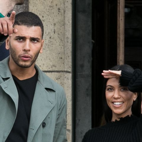 Kourtney Kardashian and Younes Bendjima Sighting -Paris Fashion Week Womenswear Spring/Summer 2018 : Day Five