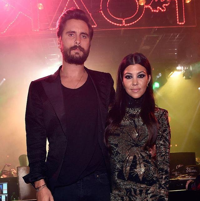 kourtney kardashian scott disick back together rumours flannel shirt
