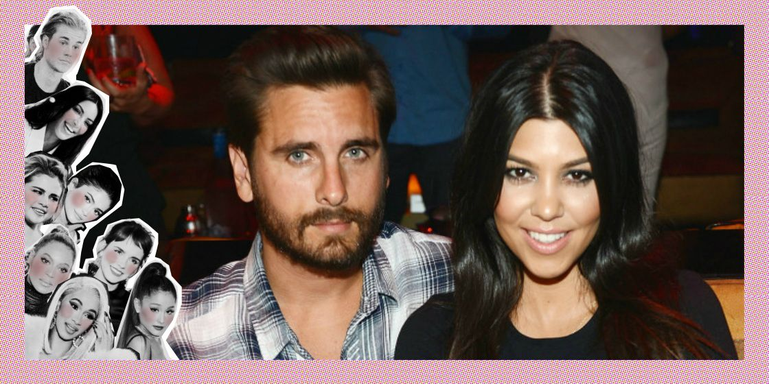 Kourtney Kardashian en Scott Disick
