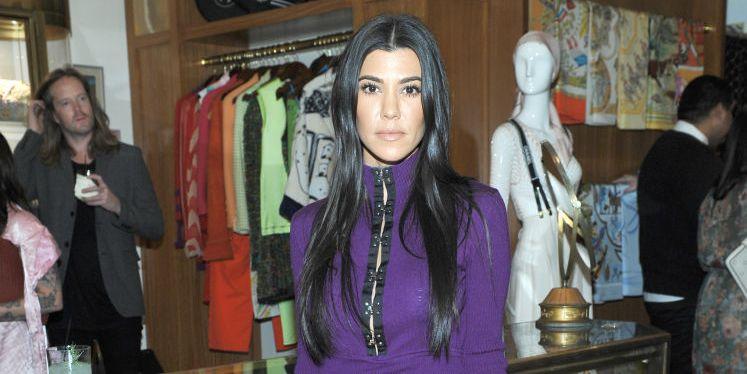 Kourtney Kardashian Steps Out in Blindingly Shiny Pants