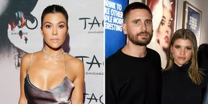 Kourtney Kardashian went for a tense third-wheel dinner with Scott Disick and Sofia Richie