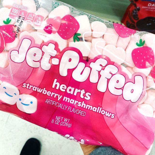 kraft jet puffed hearts strawberry marshmallows valentine's day