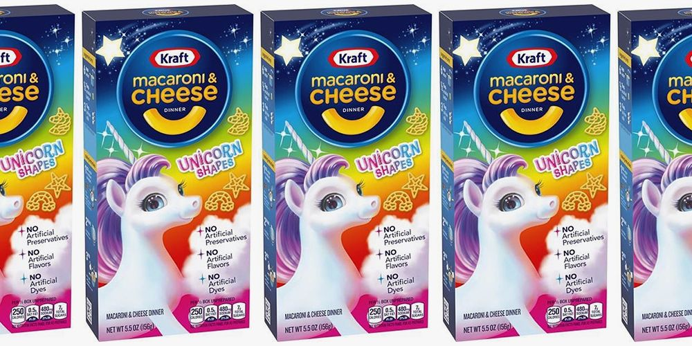 Kraft Macaroni And Cheese Unicorn Shapes Add An Extra Dose