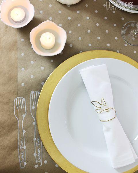 kraft paper tablecloth thanksgiving table decor