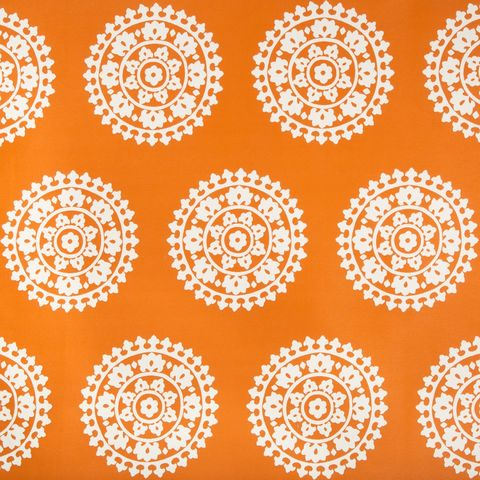 Orange, Pattern, Yellow, Circle, Design, Textile, Line, Visual arts, Symmetry, Motif,