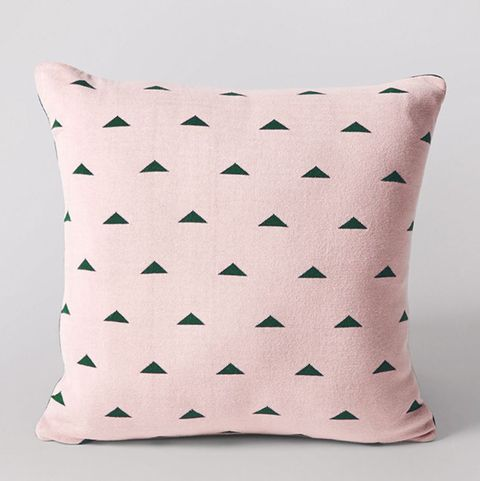 Geometric pink Swoon cushion