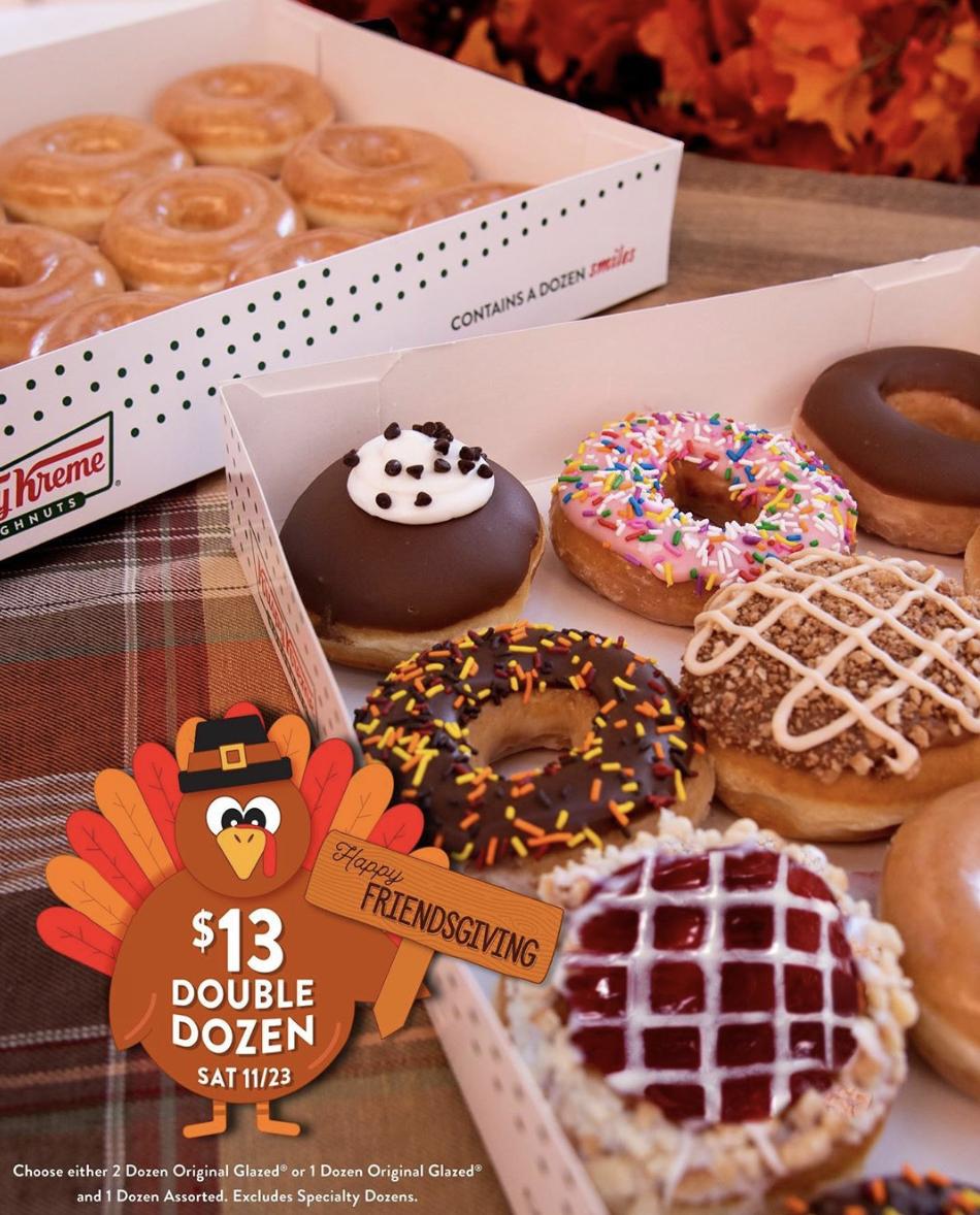 Krispy Kreme Is Offering An Amazing Friendsgiving Deal: 2 Dozen Donuts For $13