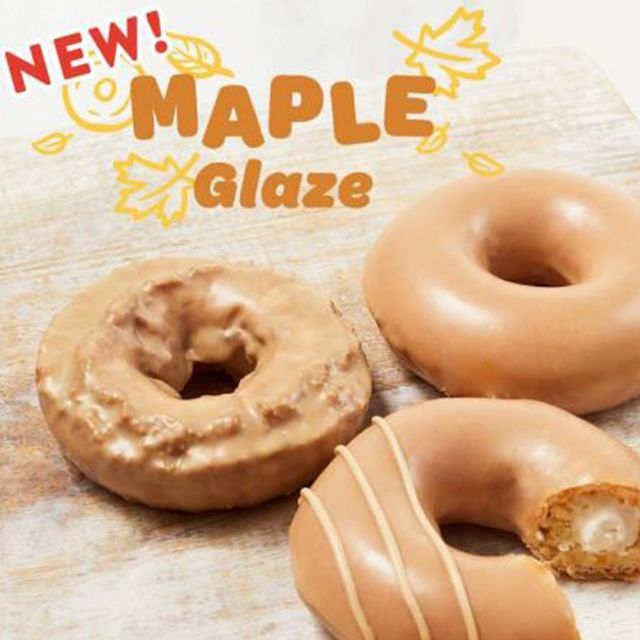krispy kreme maple glaze fall 2021 donuts