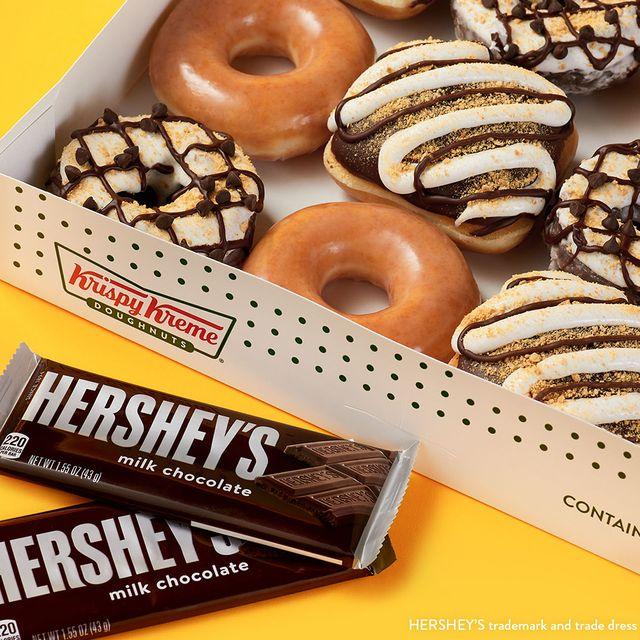 krispy kreme hershey's s'mores donuts