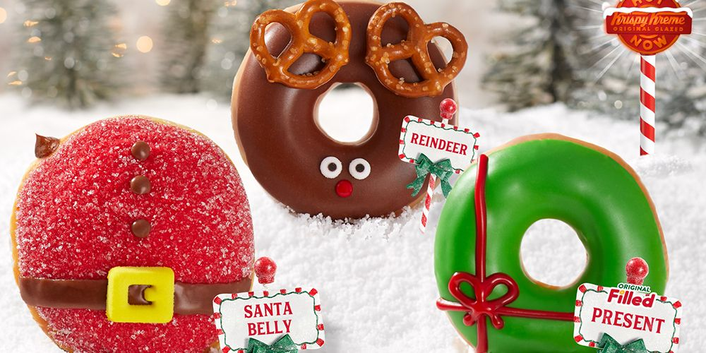 Krispy Kreme's New Holiday Donuts Are the Only Christmas Spirit We Need