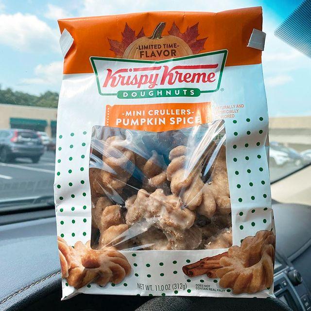 krispy kreme mini crullers pumpkin spice donuts