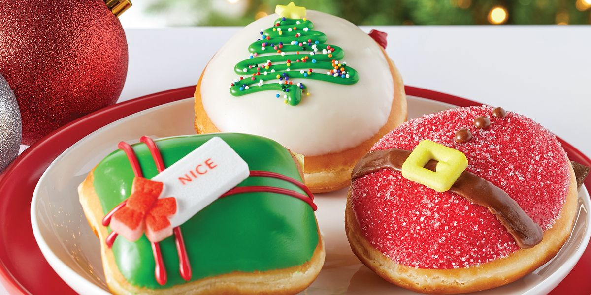 Krispy Kreme Just Unveiled Three Holiday Donuts, and One Is Stuffed With Sugar Cookie Kreme