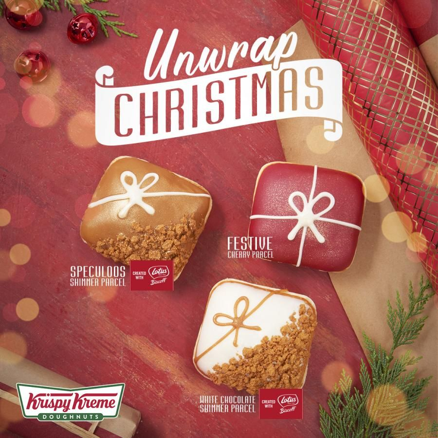 Krispy Kreme's Festive Biscoff Parcel Doughnut Is Almost Too Much To Deal With