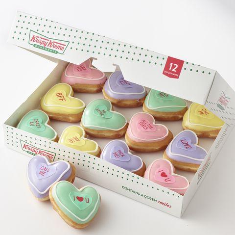 Krispy Kreme conversation heart donuts