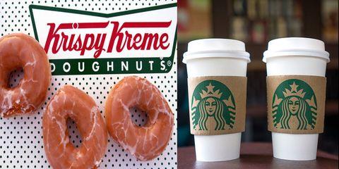 Food, Coffee cup, Doughnut, Drink, Coffee cup sleeve, Cup, Drinkware, Cup,