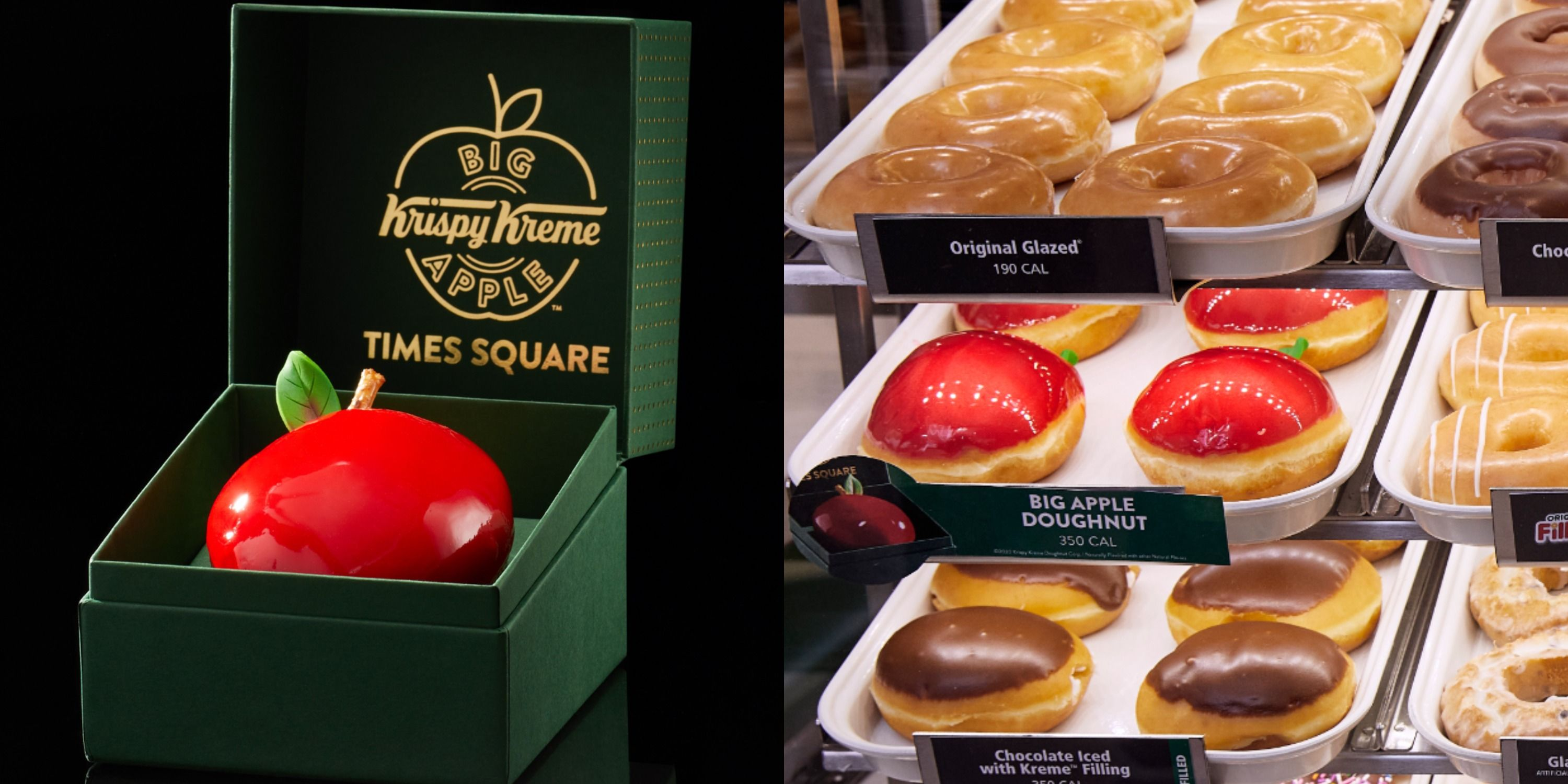 Times Square Olive Garden Halloween 2020 Krispy Kreme Is Serving A Candy Apple Donut In New York City