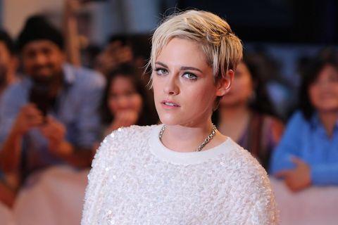 bc08c946e81 Kristen Stewart makes a strong case for a jumper dress revival
