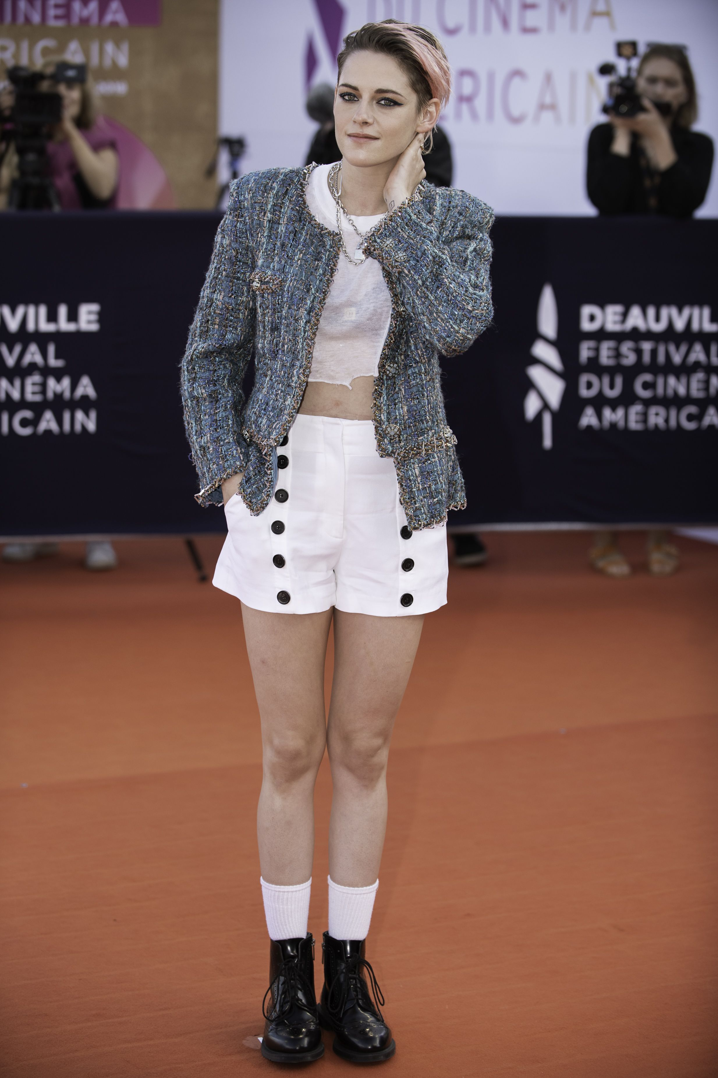 Kristen Stewart Dressed Up Her Shorts with Chanel on the Red Carpet