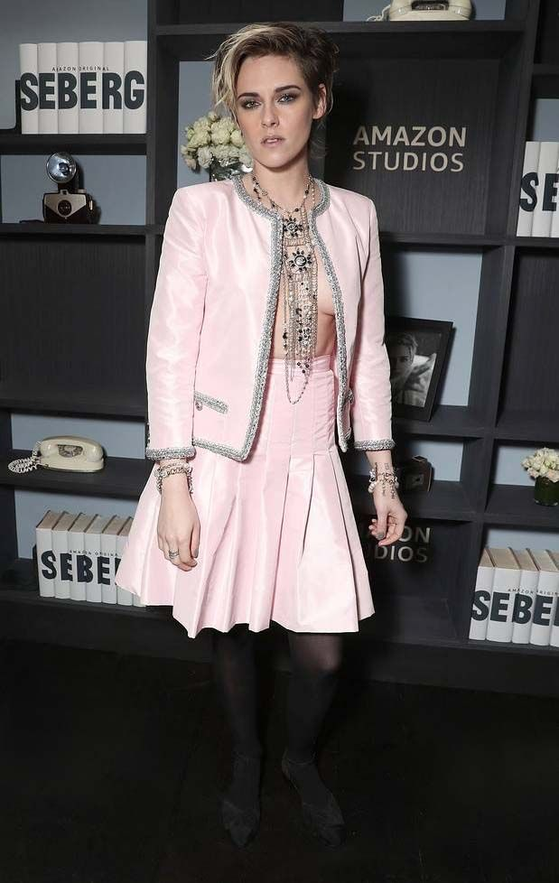 Kristen Stewart puts a daring spin on a classic Chanel skirt suit