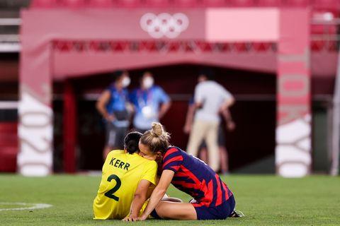 united states v australia bronze medal match women's football   olympics day 13