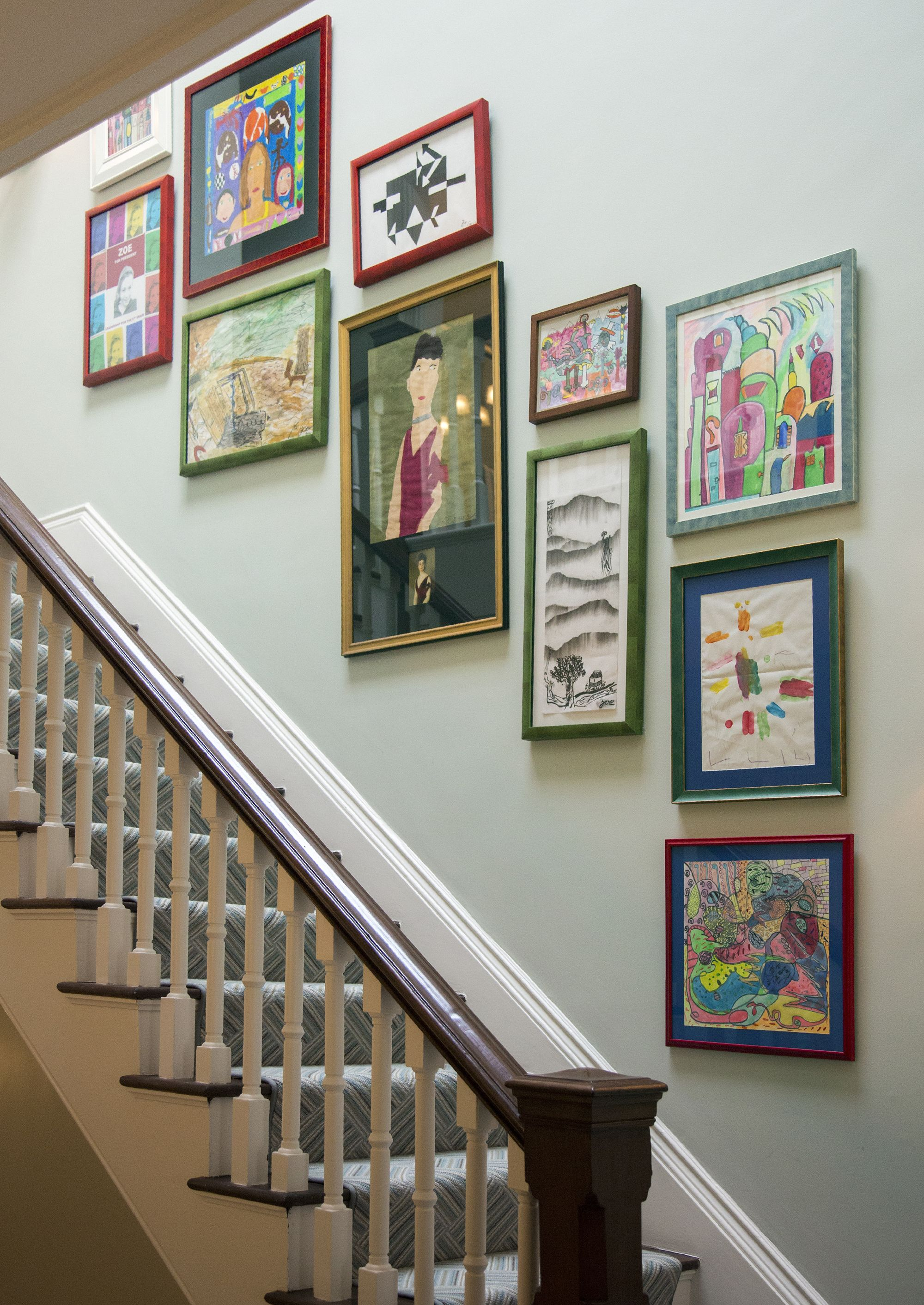 Eric Roth Photography. A Childrenu0027s Gallery Wall Along A Staircase