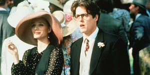 Hugh Grant and Kristin Scott Thomas in 'Four Weddings and a Funeral'