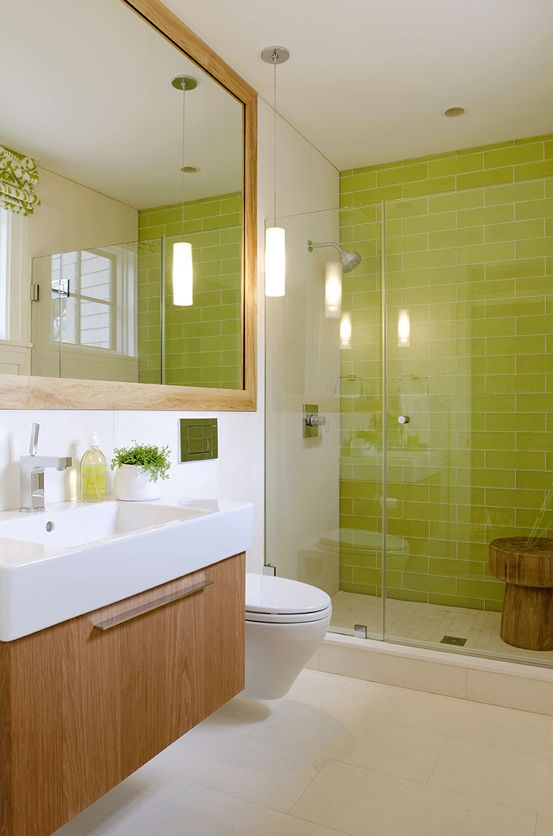 Green Bathroom Tile