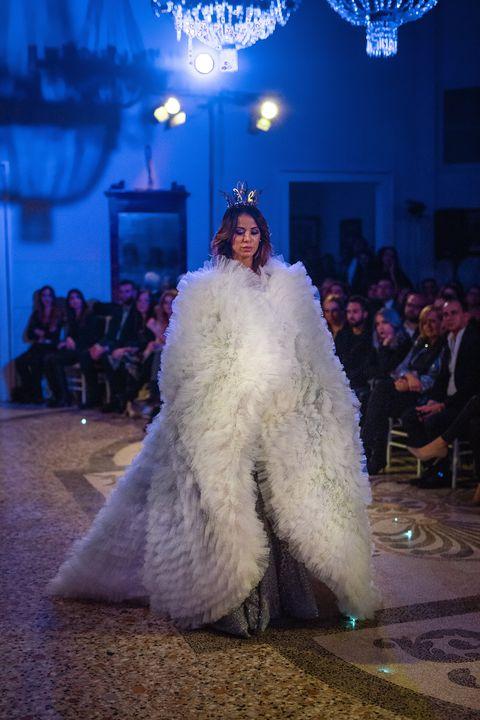 Fashion, Haute couture, Fashion show, Dress, Fashion design, Event, Fur, Gown, Runway, Fun,