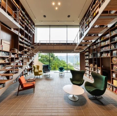 Building, Interior design, Library, Public library, Bookselling, Bookcase, Shelving, Shelf, Architecture, Furniture,