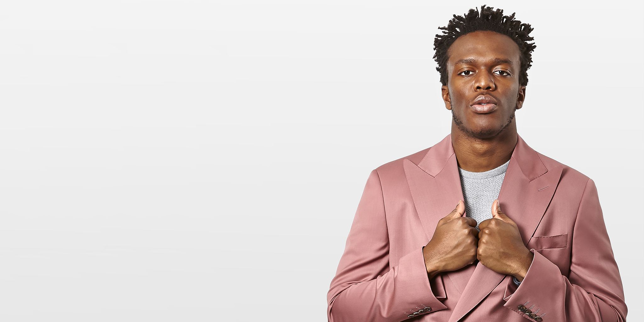 KSI wear Richard James and John Smedley for Esquire